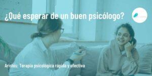¿Qué esperar de un buen psicólogo?